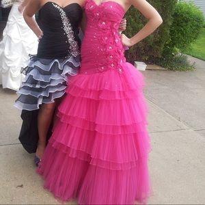 Dresses & Skirts - Hot pink mermaid prom dress
